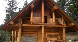 Wooden buildings protected with SILVANOLIN