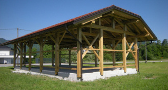 Wood storage barn in Spodnje Gorče, Silvanolin®