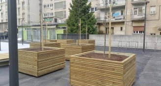 Wooden planter - Silvanolin®